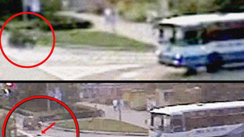 Dziecko wypadło z auta na ruchliwą ulicę