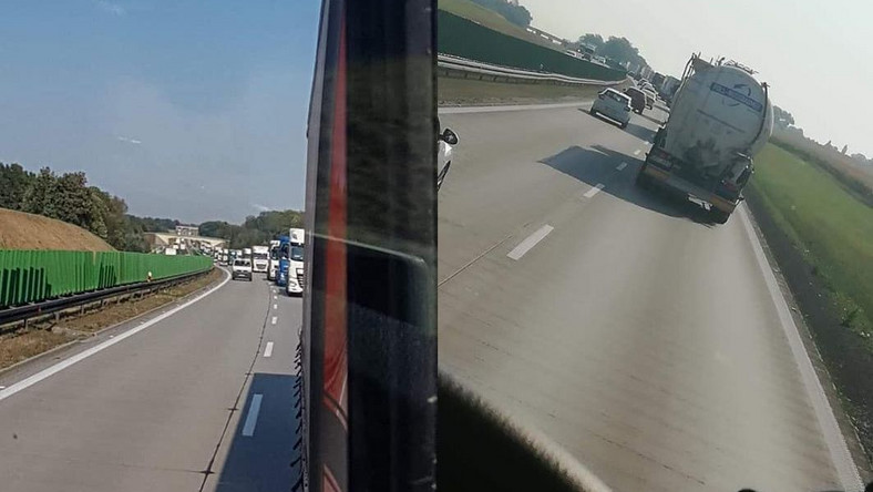 Kierowcy ciężarówek protestują na polskich drogach