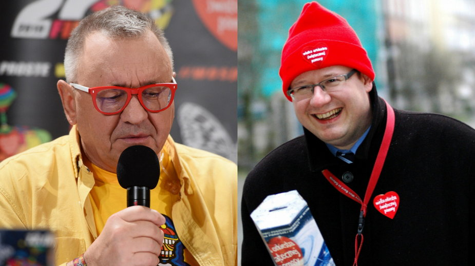 Jerzy Owsiak (MW Media, fot. Jarosław Antoniak) i Paweł Adamowicz