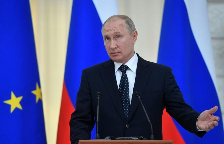 "Russian President Vladimir Putin (pictured May 15, 2019) said that ""if people are against it, that opinion must be respected"""