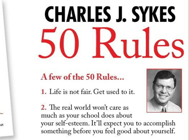Sa sajta Čarlsa Dž. Sajksa, pravog autora 11, odnosno 50 pravila