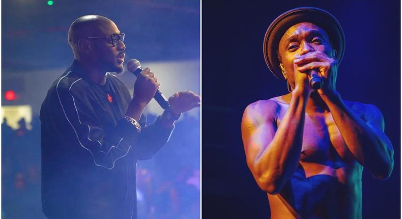 Music icon 2Face Idibia and singer Brymo [Instagram/Official2baba] [Instagram/BrymoOlawale]