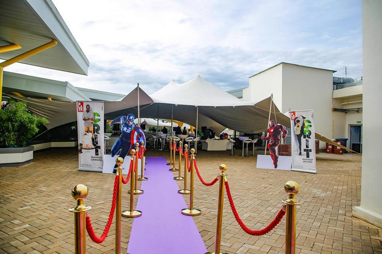 Carpet entrance to the event