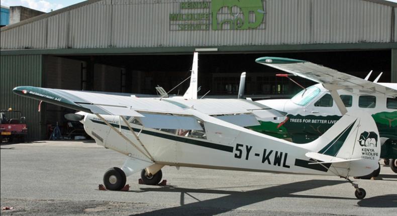 KWS Aircraft crashes in Nanyuki, kills 2 (Image Courtesy)