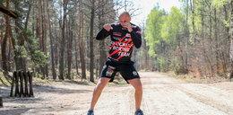 Fakt na treningu Krzysztofa Głowackiego. Ćwiczy w lesie, by znów sięgnąć po pas!