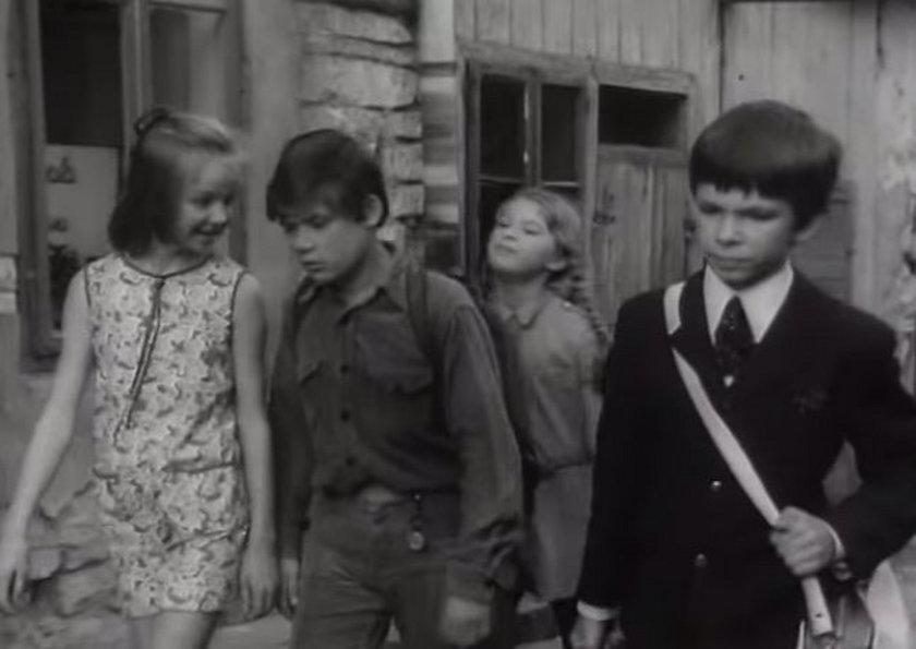Filip Łobodziński i Henryk Gołębiewski w filmie Podróż za jeden uśmiech