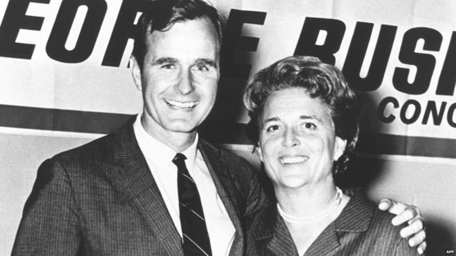 George HW Bush and wife [BBC]