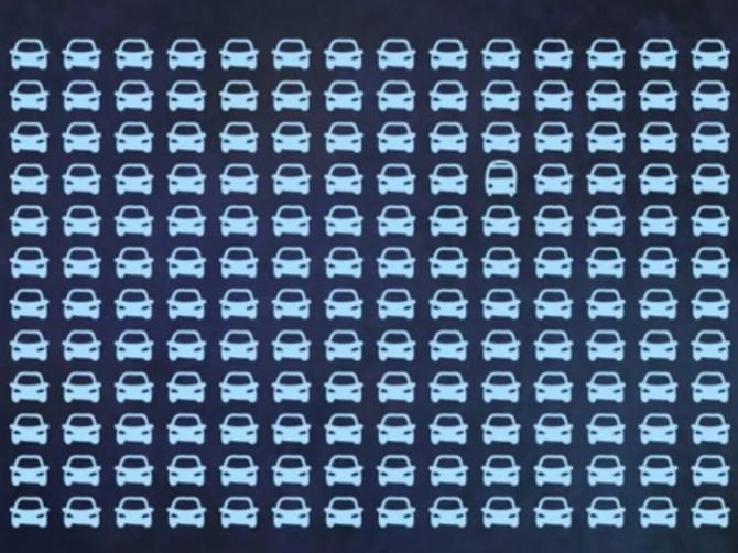 Ceo Internet se POLOMIO da pronađe AUTOBUS među automobilima ZA MANJE OD PET SEKUNDI i svi kažu da je NEMOGUĆE: Da li vi to možete?