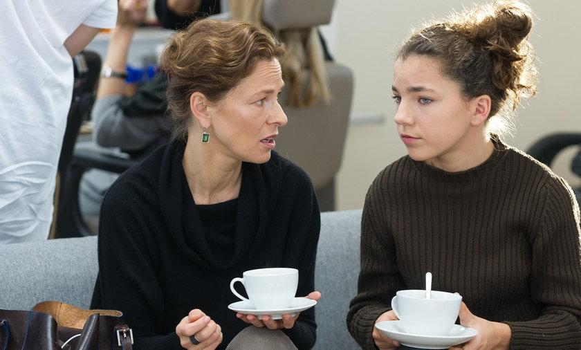 Aleksandra Justa z córką