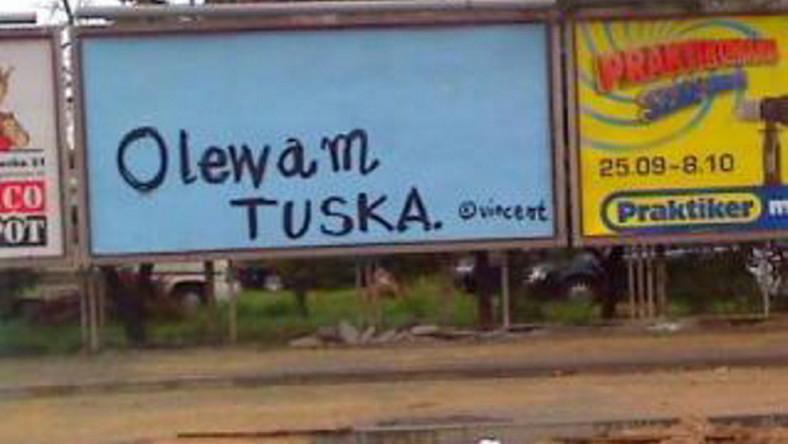 """""""Olewam Tuska"""" bije kierowców po oczach"""