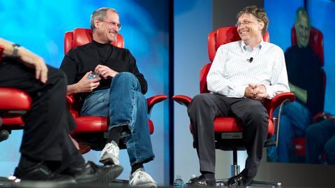 Steve Jobs i Bill Gates, marzec 2007 r.