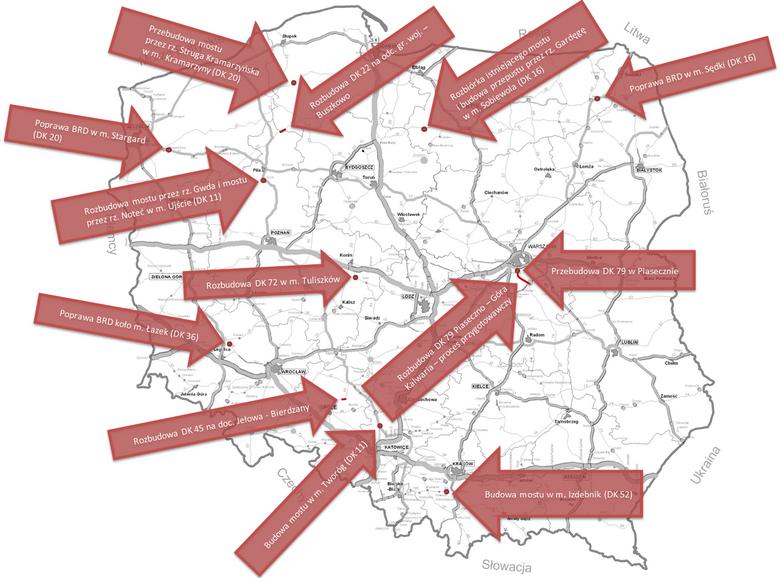 Plany przebudowy dróg