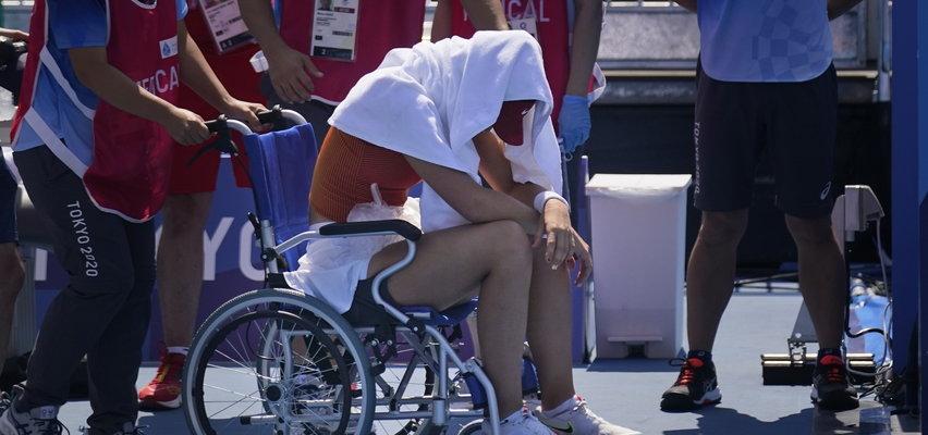 Tokio 2020. Rywalka Świątek zasłabła podczas meczu. Kort opuściła na wózku inwalidzkim