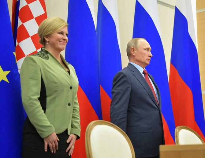 Kolinda sa predsednikom Rusije Vladimirom Putinom