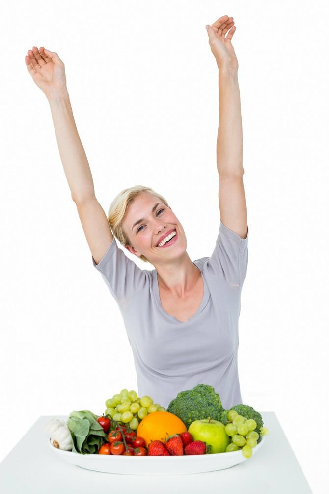 Najmanje dva obroka treba da sadrže zeleno povrće, a treba pojesti i bar tri voćke dnevno