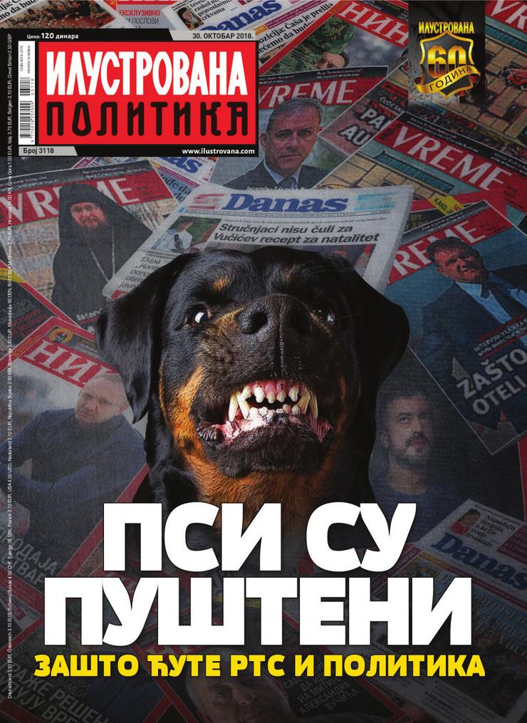 ilustrovana politika, naslovna, psi
