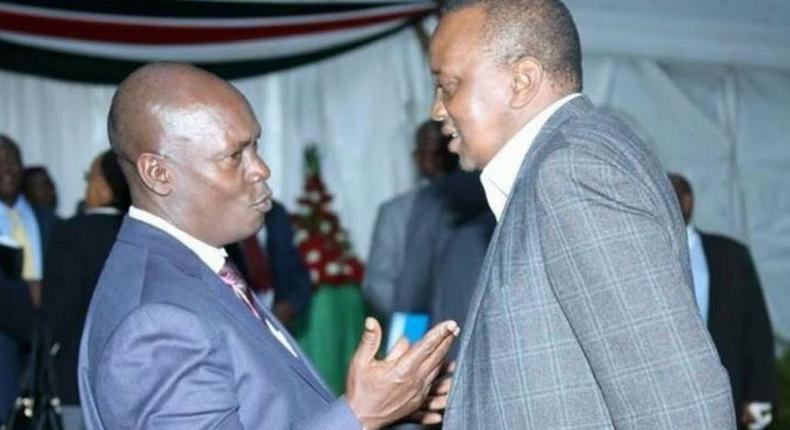 Kiambu Governor William Kabogo with President Uhuru Kenyatta.
