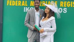 Peter Olayinka and wife Yetunde Barnabas (Instagram/Peter Olayinka)