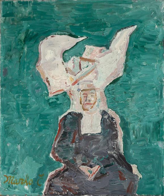 Usnula kaluđerica,1966/7, ulje na platnu, 55x46cm