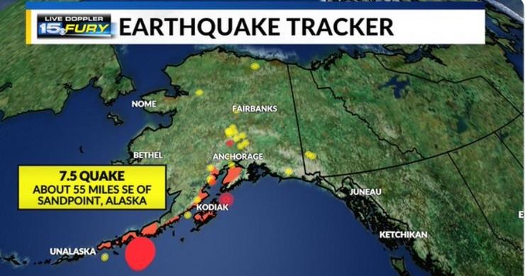 Aljaska zemljotres