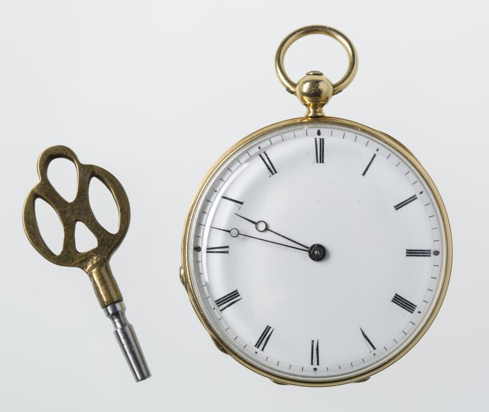 Patek&Cie, zegarek z kluczykiem, po 1854, fot. MNK