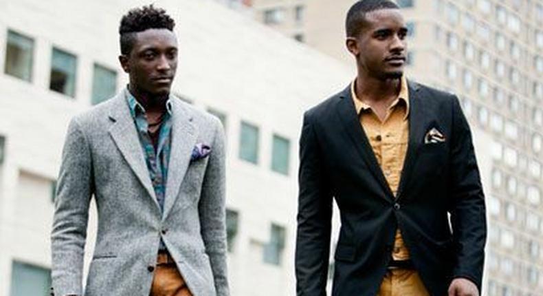 Smart-casual looking black men