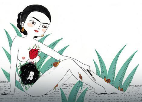 """Ilustracija iz knjige """"Frida Kalo. Jedna biografija"""""""