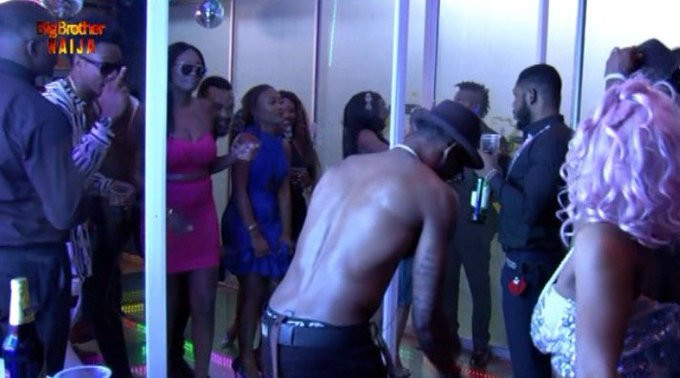 BBNaija Pepper Dem 14th Saturday Night Party [Twitter/BBNaija]