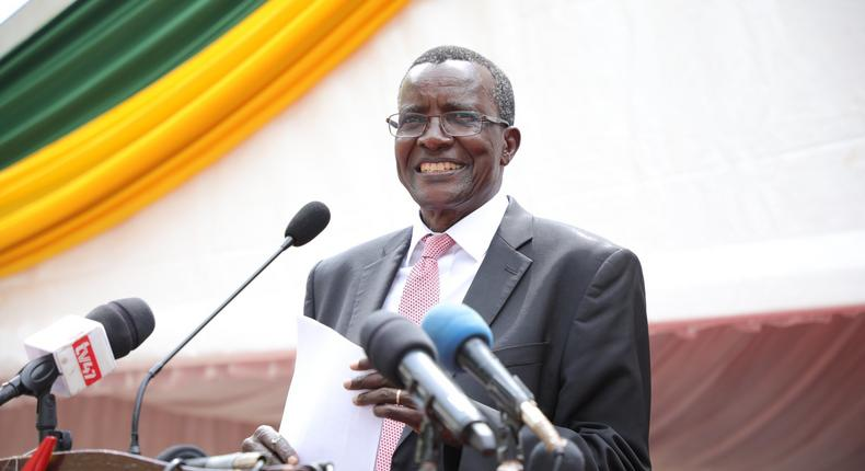 Chief Justice David Maraga during the official opening of  modern complex at the Kakamega Law Courts