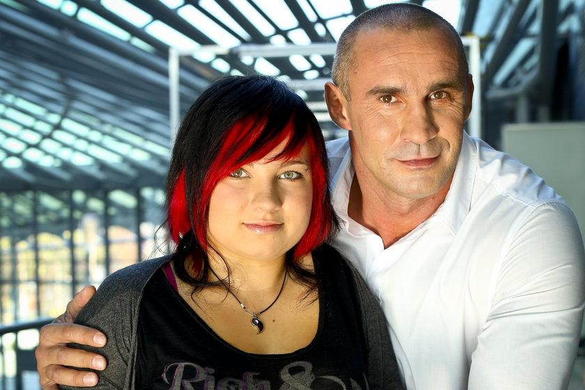 Przemysław Saleta z córka