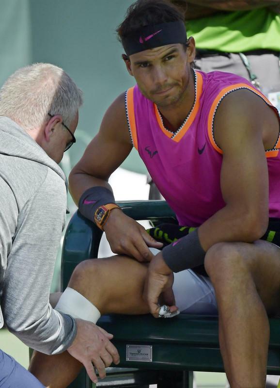 Rafael Nadal tokom predaha u četvrtfinalnom okršaju sa Hačanovim u Indijan Velsu