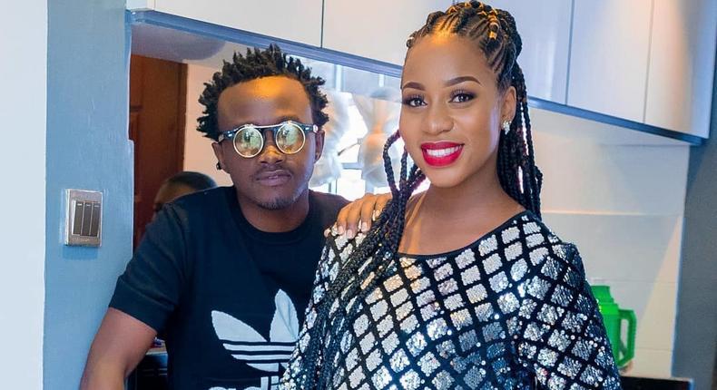 Bahati with his Wife Diana Marua