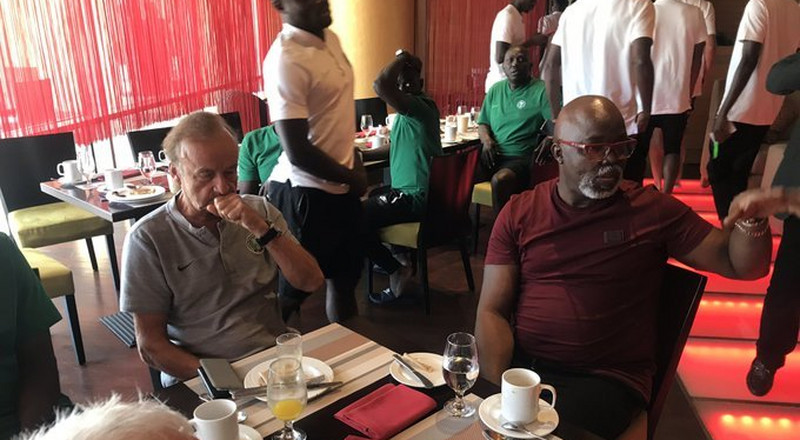 NFF boss Amaju Pinnick makes case for Gernot Rohr, says local coaches are envious of Super Eagles coach