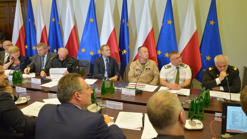 Posiedzenie Rządowego Centrum Bezpieczeństwa