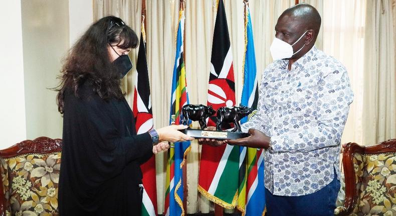 President William Ruto meets Romania Ambassador to Kenya Julia Pataki
