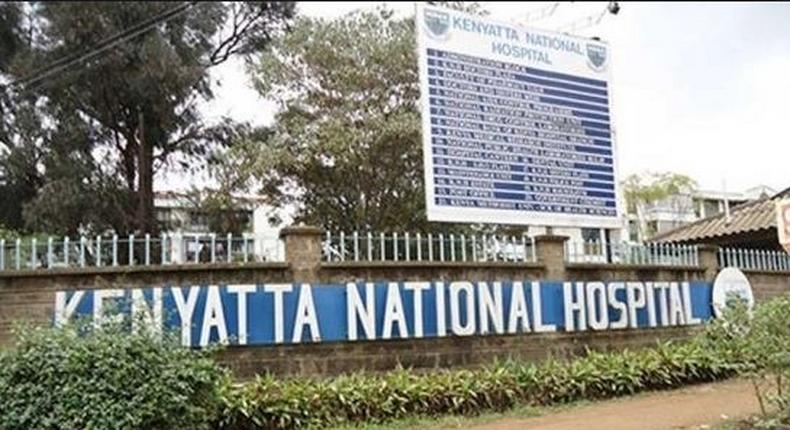 File image of the entrance to Kenyatta National Hospital