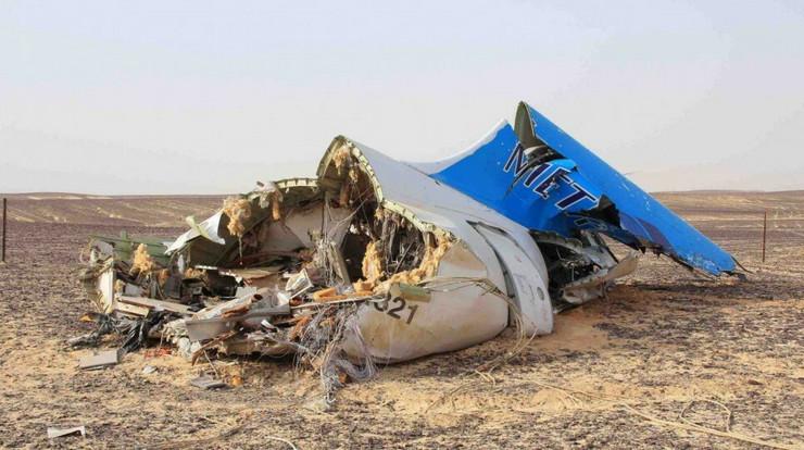 Rušenje aviona u Sinaju public domain