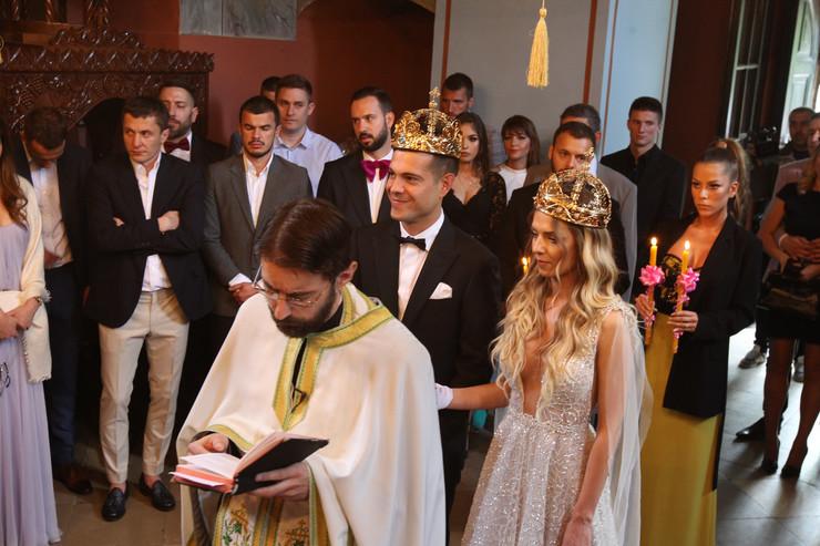 Lola Smiljanić, crkveno venčanje sa Tamarom