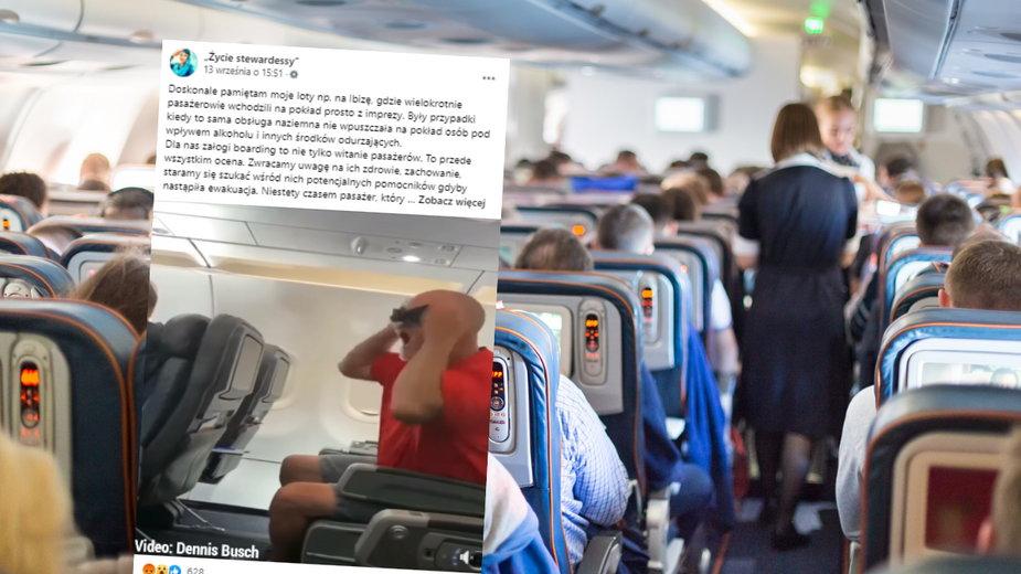 Personel pokładowy nierzadko musi mierzyć się trudnym zachowaniem ze strony pasażerów