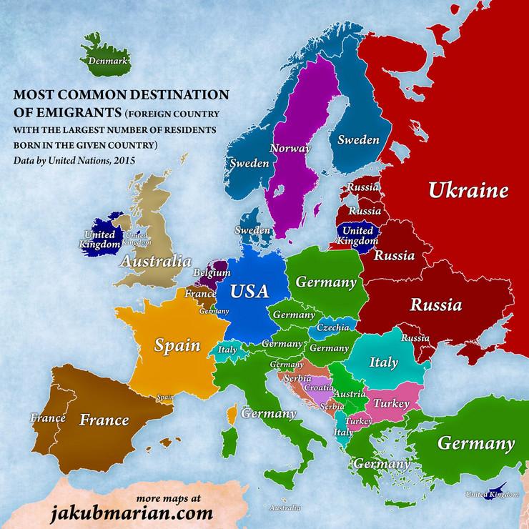 Mape selidbi, Evropa, EU, Migranti, EU