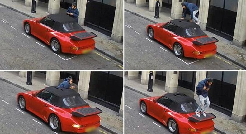 Daring thief tries to steal porsche in broad daylight