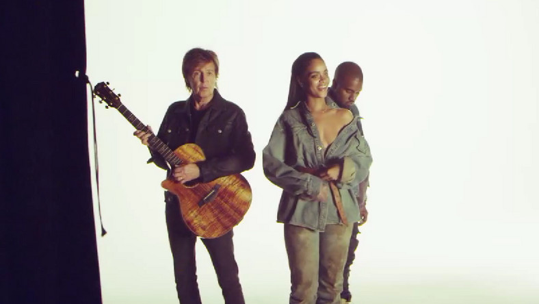 "Rihanna, Kanye West i Paul McCartney w teledysku do ""FourFiveSeconds"""