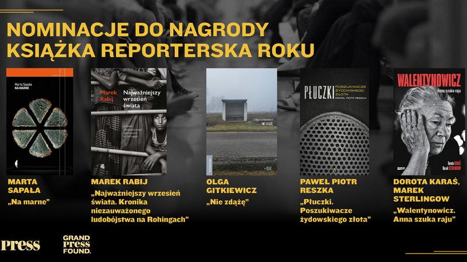 Finaliści konkursu Książka Reporterska Roku
