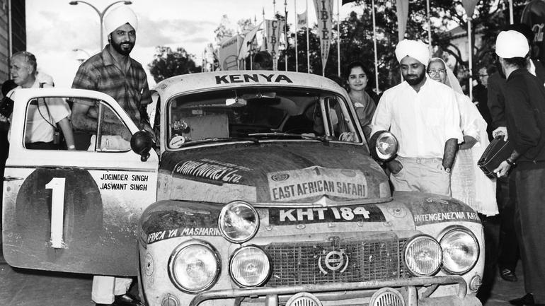 Bracia Singh i Volvo PV 544  w Rajdzie Safari 1965