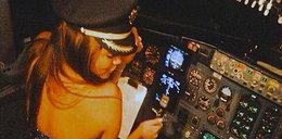 Pilot wpuścił panienki do kokpitu i...