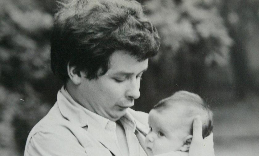 Lech Kaczyński z córką