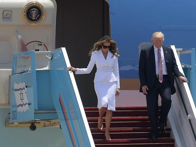 Melanija i Donald Tramp 2017. stižu u Tel Aviv
