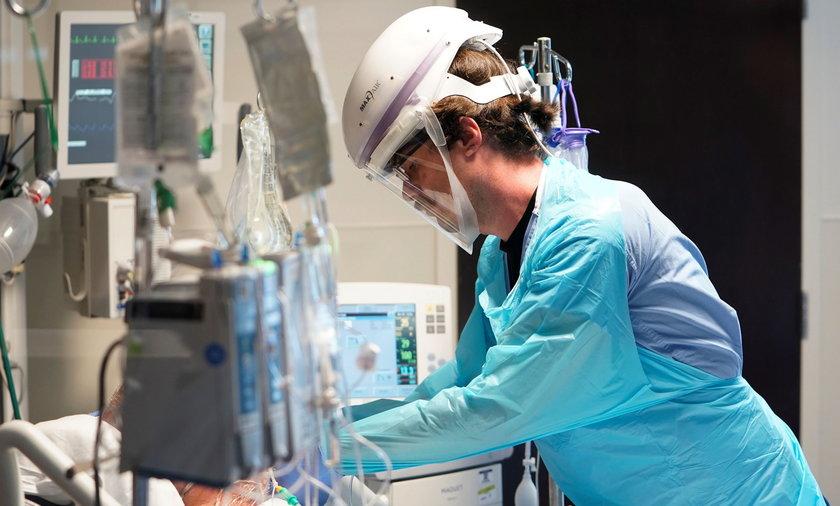 Na zdjęciu: oddział intensywnej terapii w Oklahomie.