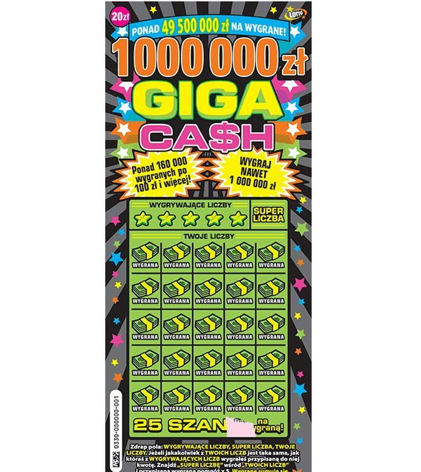 Zwycięzca zgarnął milion w zdrapce