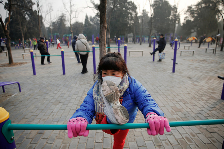 Kina, Peking, Zagađenje